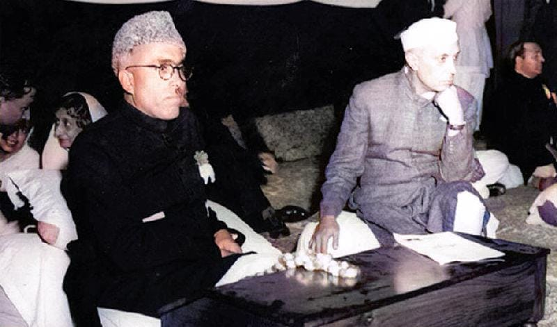 Nehru with sheikh abdullah rare photo from the history of jammu and kashmir